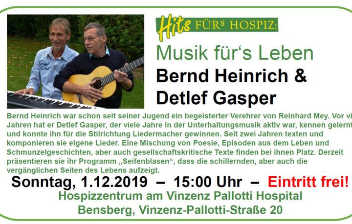 Veranstaltung Musik für`s Leben 1.12.2019 15:00Uhr im Hospiz des VPH Vinzenz-Pallotti-Str. 20 , Bensberg